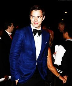 Nicholas Hoult. The blue tuxedo jacket might be my new favorite