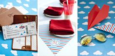 It's in the details! Airplane birthday party by Victoria Chow