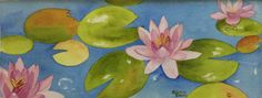 3 Lilies 22 x 9 by Rebecca Brown