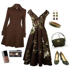 Look Polyvore - love de dress, hate de coat