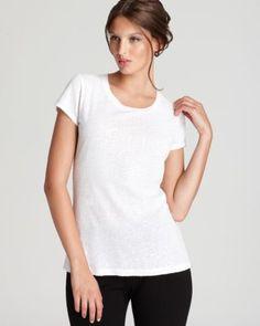 DKNY Short Sleeve Sequin Tee. #dkny #cloth #tee