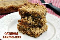 Mommy's Kitchen - Old Fashioned & Southern Style Cooking: Oatmeal Carmelitas {Ooey Gooey Goodness}