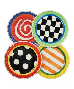These plates are way cute!  Take a look at this Beyond Blossom Plate - Set of Four  by Home, Etc. on #zulily today!