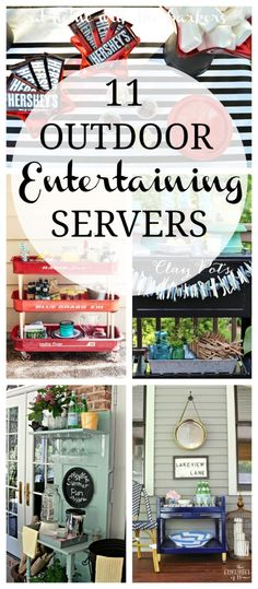 11 Creative and functional Outdoor Entertaining Servers for any outdoor party | At Home With The Barkers