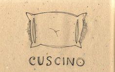 Learning Italian Language ~ Cuscino