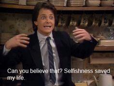 Mike jako Alex. P Keaton w Family Ties