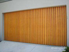 Timber tilt garage door with western red cedar battens