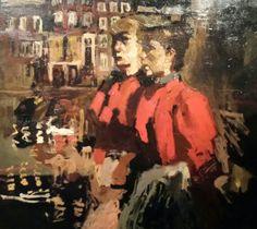 Breitner Amsterdam Dutch Painters, Dutch Artists, Rotterdam, Figurative Art, Art Paintings, Illusions, Modern Art, Portraits, Fine Art