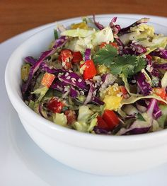 You don't have to stick to liquid foods in order to feel better. This hearty hemp seed and cabbage detox salad sweeps away bloat and fills you up with a satisfying crunch.                  Source: Lizzie Fuhr