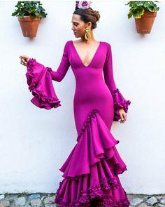 Fashion Wear, Fashion Models, Fashion Beauty, Fashion Dresses, Flamenco Costume, Flamenco Dresses, Spanish Dress, Fiesta Outfit, Shower Dresses