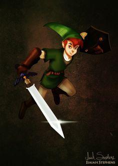 Peter Pan as Link | 10 Disney Heroes Dressed Up In Awesome Halloween Costumes