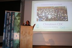 Norman Fong of Chinatown Community Development Center accepting Compassion Week 2014 Award for Community Building