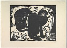 Cats - Karl Schmidt-Rottluff (German, 1884–1976), 1914 - Woodcut - The Metropolitan Museum of Art, NY