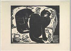 Karl Schmidt-Rottluff  (German, 1884–1976) - Cats, 1914 - Woodcut - The Metropolitan Museum of Art, NY