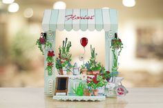 Gorgeous florist made using the @tatteredlaceuk Retail Therapy Collection! / papercraft / scrapbooking / cardmaking / craft