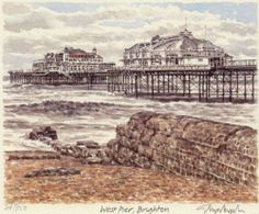 Painting of the West Pier, Brighton by Glyn Martin
