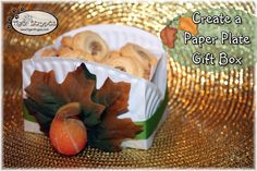 Learn to Create a Paper Plate Gift Box #TigerStrypesBlog