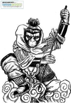 traditional monkey tattoo - Google-Suche