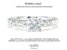 Forlovelsesring med diamanter 1 carat - Perfetto Diamantring 1,00ct tw/vs