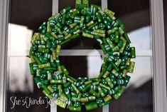 St. {Paddy's} Wreath - Shes {kinda} Crafty