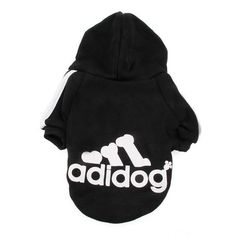 Adidas Style Dog Hoodie Sweater