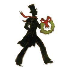 Sizzix - Tim Holtz - Alterations Collection - Christmas - Bigz Die - Festive Gent at Scrapbook.com