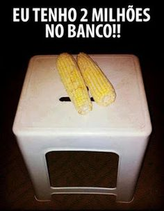 2 milhões no banco! (You have to understand this only in portuguese. Memes Estúpidos, Memes Status, Top Memes, Funny Jokes, Hilarious, Best Funny Images, Lol, Funny Happy, Funny Moments
