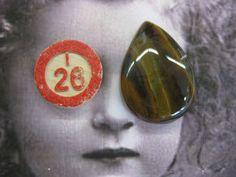 Semi Precious Stone Tigers Eye Polished by dimestoreemporium, $6.00