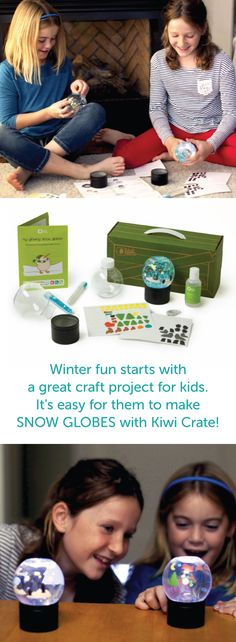 Make your own snow globes this winter! Kiwi Crates contain projects that inspire curiosity and creativity through hands on fun. Inside each crate, you'll find everything you need to complete the project. Purchase Kiwi Glowing Snow Globes in our shop or subscribe and receive projects monthly. Designed for ages 5-8. Subscribe now and receive 30% off your first month's crate with PINTEREST30. Hurry, offer ends December 31st, 2015!