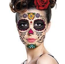 Resultado de imagen para maquillaje catrinas mexicanas