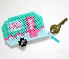 Retro Camper Keychain and FREE Perler Bead Pattern