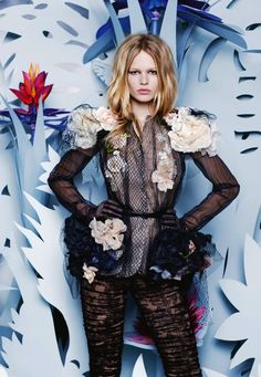 Anna Ewers by Karl Lagerfeld for Numéro #161 March 2015