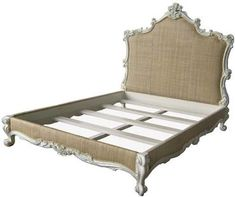 Margaret Queen Bed Hand-Carved and Upholstered Antique White Finish, Shown in Raffia, pricing is for Raffia, will change with other fabric selections. Finish Options:antiqued white, black, chalk, enamel white, silver Available in Queen, Cal. King [...]