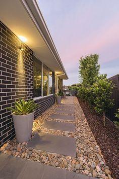 Side Yard Landscaping, Backyard Walkway, Backyard Patio Designs, Small Backyard Landscaping, Backyard Ideas, Backyard Pools, Garden Ideas, Landscaping Ideas, Small Backyard Design