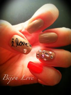 I don't like the cheap jewels but I love the nail pen word design!