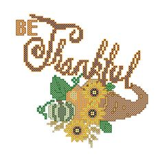 A personal favorite from my Etsy shop https://www.etsy.com/listing/115249239/modern-thanksgiving-cross-stitch-pattern