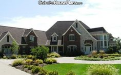 Beautiful 11,700+ square foot design with all the amenities - House Plan 218414