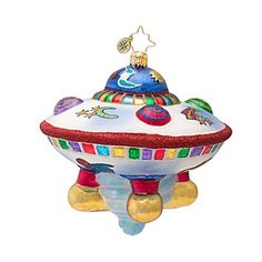 Alien Lovers Will Love This Glass UFO Ornament - Ornament Reviews