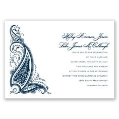 Paisley Henna - Peacock - Invitation