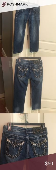 Miss Me Jeans Size 25. Capri jeans. Style JP5434P. Very good condition. Miss Me Jeans Ankle & Cropped