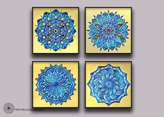 A personal favorite from my Etsy shop https://www.etsy.com/listing/507005885/mini-wall-tile-prints-mandala-wall-art