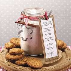 DIY cookie mix jar | Hobby Craft    Don't just stick to cookie recipes you can use this idea for anything... cake mixture... gingerbread men mix... muffins... they make awesome Christmas presents too!! ♥