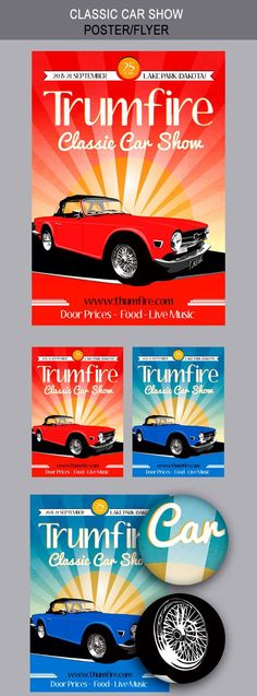 Check out Classic Car Show Flyers by kinzi21 on Creative Market - car flyers