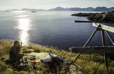 Chilling in Henningsvær, Austvågøya Island, Lofoten, Norway