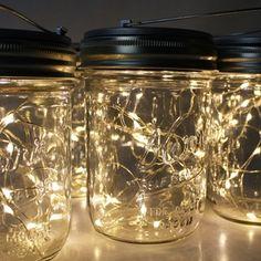 Wide Mouth Mason Jars, Mason Jar Lids, Projects To Try, House Design, Lights, Led, Warm, Weddings, Wedding