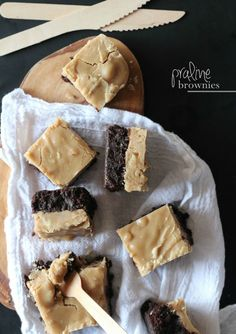 Praline Brownies @Shelly Figueroa Jaronsky (cookies and cups)
