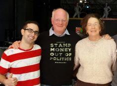Head Stamper Ben meets Maureen Mann http://maureenmann.blogspot.com/2015/04/stamp-money-out-of-politics.html