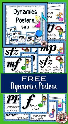 Elements of music | Free music posters for your classroom! Dynamics posters - CLICK through to download! ♫ #musiceducation #musedchat #musiced