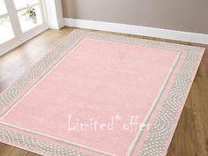 Brand-New-5X8-Kids-Pink-gray-Polka-Style-Handmade-Woolen-Area-Rug-Carpet-ECH