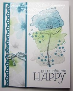 Happy Watercolor Makes Me Happy  watercolor wonder, stamping, stamps, stampin up, too cool